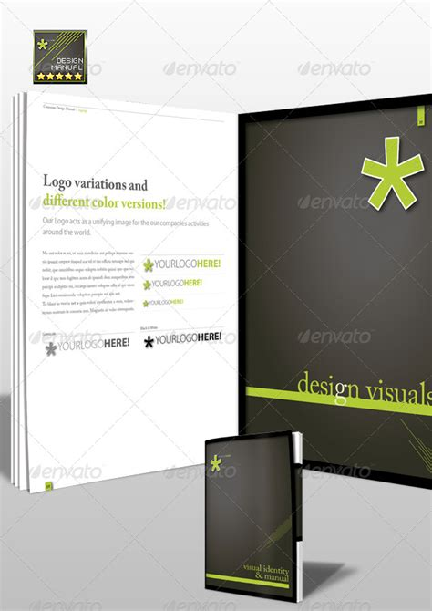 corporate identity manual template corporate identity manuals and guides template a4 by