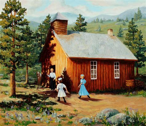 house portrait artist 1896 school house painting by mary giacomini