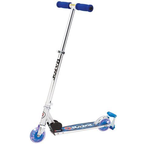 razor scooter light up wheels blue razor spark dlx scooter blue toys thehut com