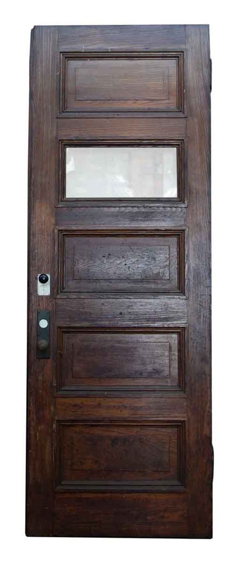 5 Panel Exterior Door Five Horizontal Glass Wood Panel Door Olde Things