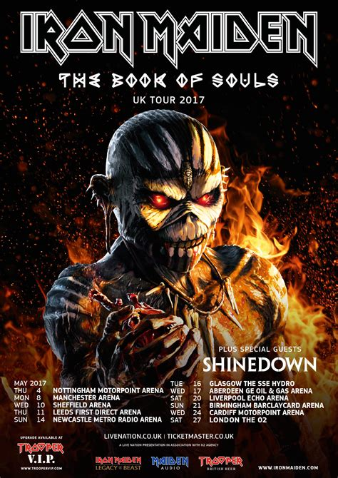 on tour 1973 2017 books iron maiden bring book of souls world tour to