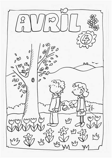 Coloriage du mois d'avril | coloriage enfant | Danger
