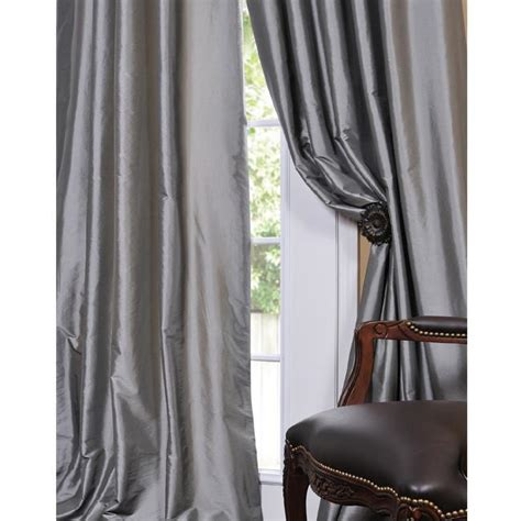silk curtain pottery barn dupioni silk pole pocket drapes decor look