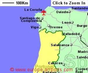 La Coruna Spain Map by La Coruna Spain Map Imsa Kolese