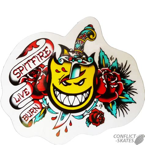 tattoo flash stickers spitfire tattoo flash dagger skateboard snowboard
