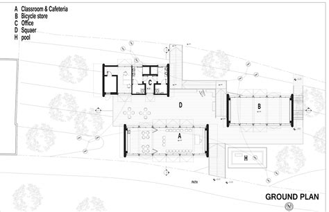 bike shop floor plan casa shneur yoav messer architects plataforma arquitectura