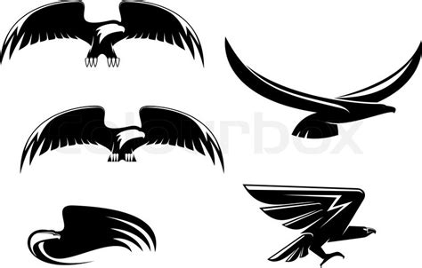 tattoo eagle vector heraldry eagle symbols and tattoo isolated on white