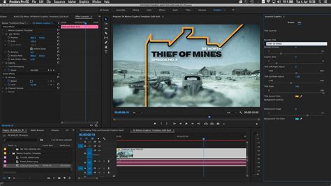 After Effects And Premiere Pro Cc 2017 Updated To Make Motion Graphics And Audio Easier Premiere Pro Slideshow Template