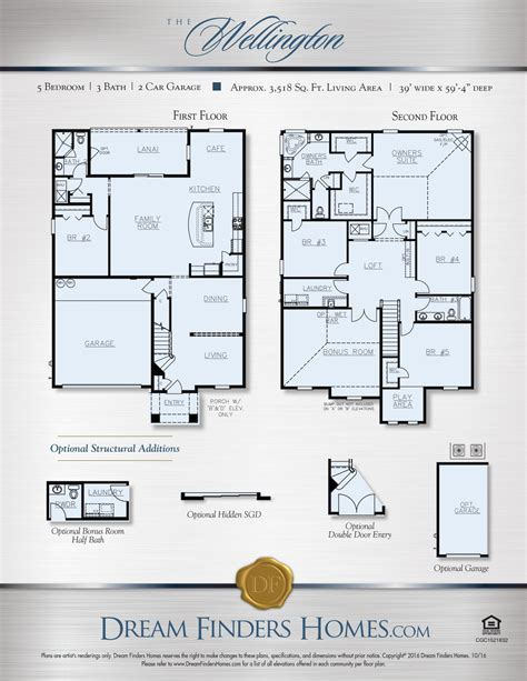 dream finders homes floor plans wellington floor plan dream finders thefloors co