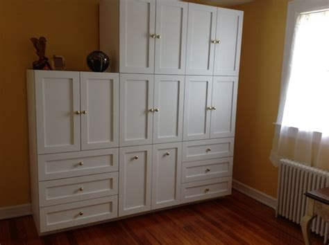 custom wall cabinet custom wall units traditional bedroom new york by