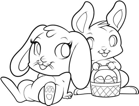 Beautiful Easter Bunny Coloring Page 29 On Coloring Print Beautiful Images For Coloring