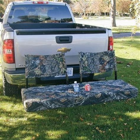 truck tailgate bench seat hitch seats truck bed accessories and ideas pinterest