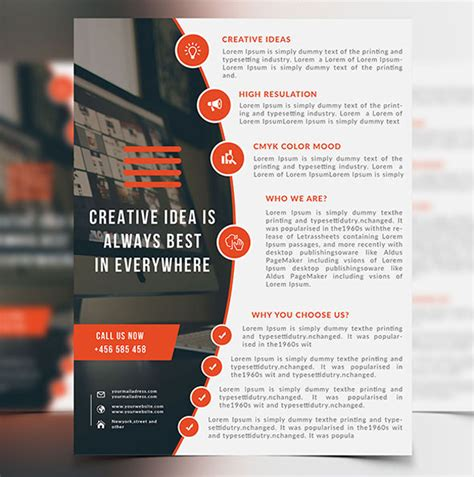 designs for flyers template 25 professional corporate flyer templates design graphic design junction