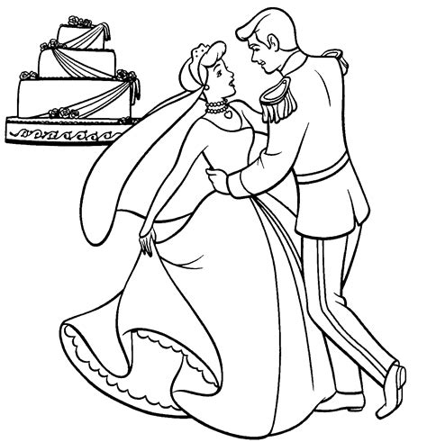 coloring pages wedding cinderella wedding coloring pages gt gt disney coloring pages