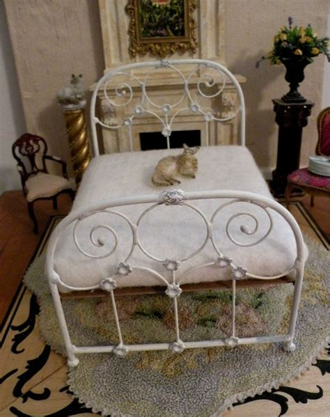 dollhouse beds dollhouse miniature bed beautiful sculpted wire quot wrought