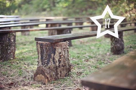 tree log bench build wood benches wedding ideas pinterest