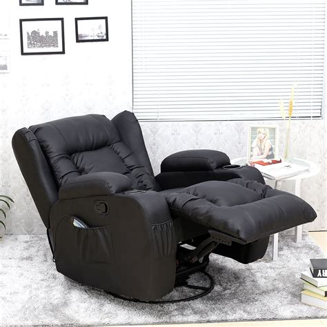 rocking recliner massage chair caesar 10 in 1 winged leather recliner chair rocking