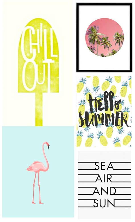 free printable summer wall art printable summer art tell love and partytell love and party