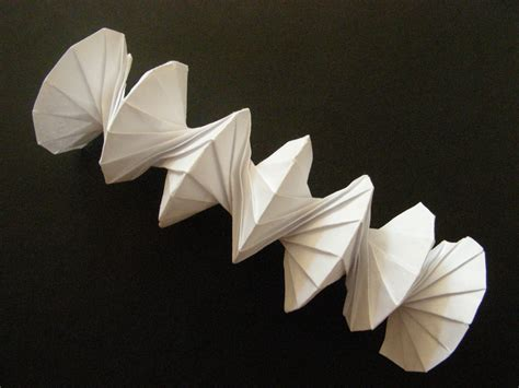 Science Origami - origami spiral into orgiami design by jef