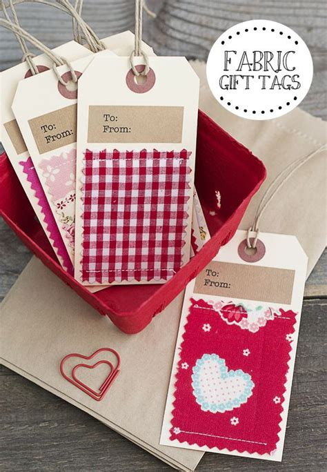 Handmade Fabric Gifts - 25 best ideas about handmade gift tags on