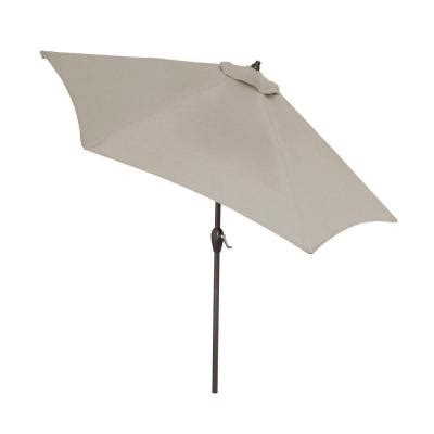 gray patio umbrella hton bay 9 ft aluminum patio umbrella in gray with