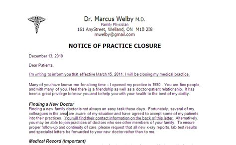 Patient Letter Closing Practice Best Photos Of Area Closed Notice Letter Apartment