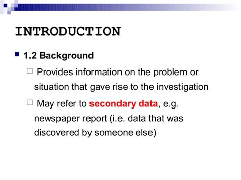 How To Write A Background Report by How To Write Background Information Of A Company