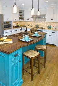 Colorful Kitchen Islands Photos Pop Color In Your Home Neutral Kitchen Islands