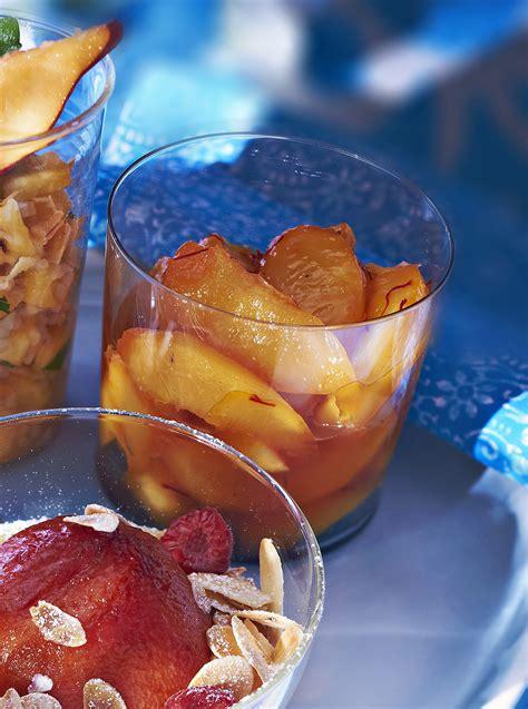 Desserte De Jardin 3164 by P 234 Ches Et Citron Aux Pistils De Safran R 233 Gal