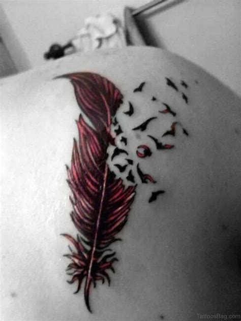 bird feather tattoo 64 feather tattoos for back