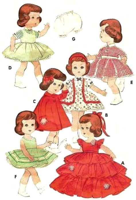 vintage doll clothes pattern 7971 11 quot littlest ebay