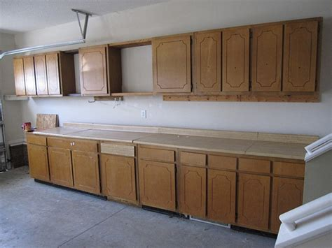 kitchen cabinet garage door