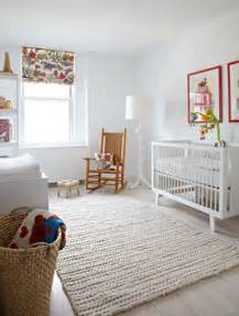 Modern Nursery Rug A Modern Nursery That S White Warm Cable Wool And The White