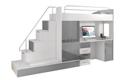 Lit Mezzanine Avec Escalier De Rangement lit mezzanine avec escalier et rangements camille