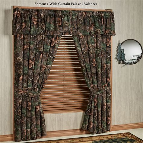 rustic window coverings mixed pine rustic camo camouflage window treatment
