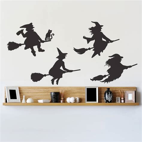 notonthehighstreet wall stickers witches wall sticker set by oakdene designs notonthehighstreet