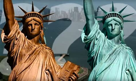 what color is the statue of liberty the statue of liberty was before it turned green