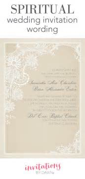 Words For Wedding Invitation Spiritual Wedding Invitation Wording Invitations By Dawn