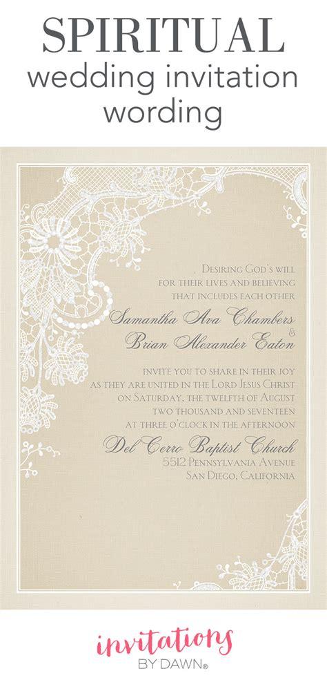 Spiritual  Ee  Wedding Ee   Invitation Wording  Ee  Invitations Ee   By Dawn