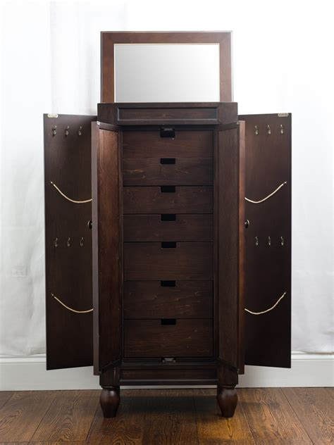 espresso jewelry armoire celine espresso jewelry armoire hives and honey