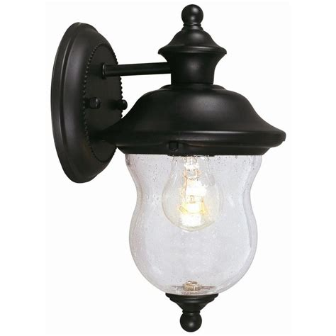 Outdoor Lighting Downlights Design House Highland Black Outdoor Wall Mount Downlight 502906 The Home Depot