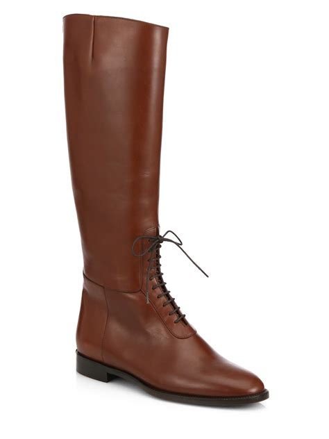 mens knee high lace up leather boots santa barbara