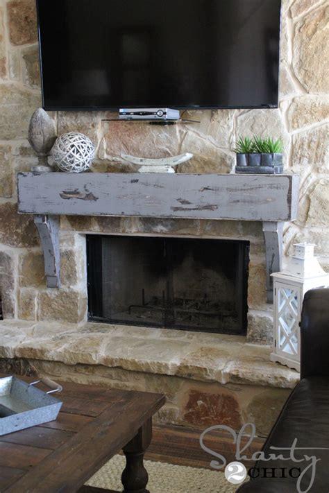 diy rustic fireplace mantel crafts fireplace mantels rustic