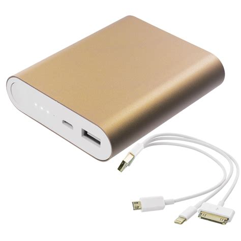 Usb Portable 10400mah Usb Portable External Battery Power Bank Pack Charger Cable Heavy Duty Ebay