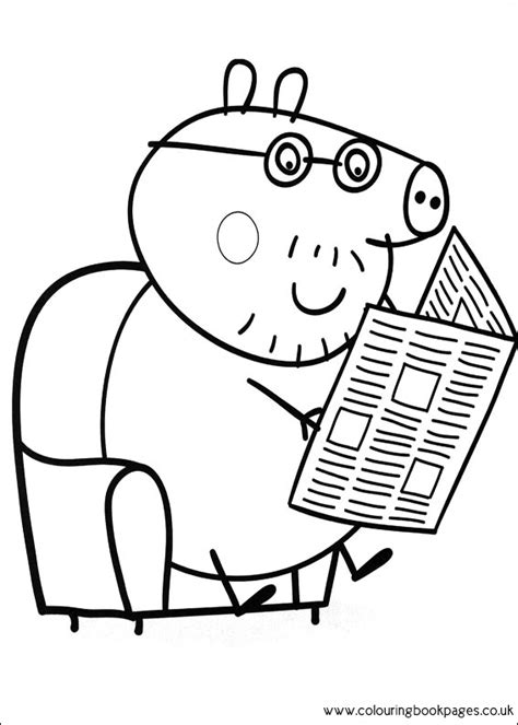 daddy pig coloring page free coloring pages of peppa pigs dinosaur