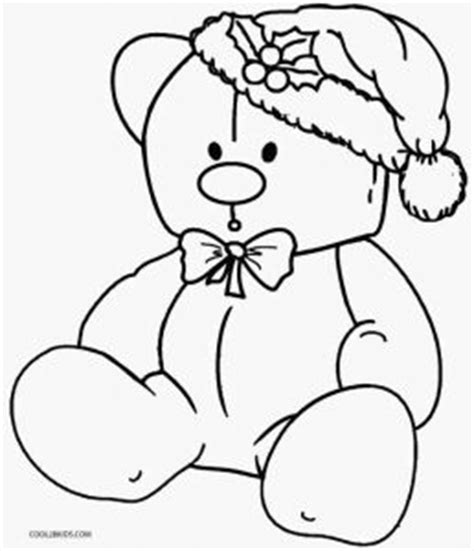 christmas coloring pages teddy bear printable teddy bear coloring pages for kids cool2bkids