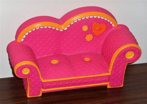 lalaloopsy sofa lalaloopsy furniture pink with orange trim couch loveseat