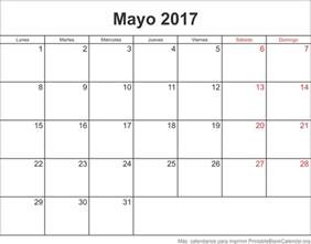 Calendario 2018 Mayo Mayo 2017 Calendario Para Imprimir Calendarios Para Imprimir