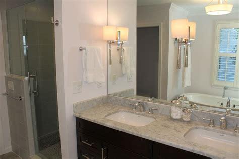 Master Bathroom Lighting Master Bathroom Lighting Ideas With Sleek Lshades
