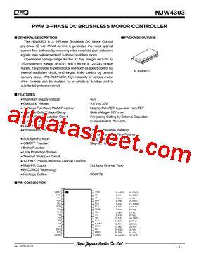 transistor njw njw4303 データシート pdf new japan radio